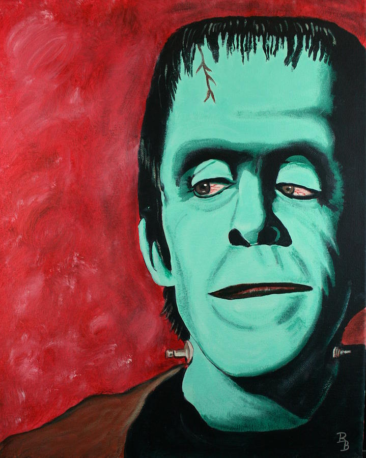 Herman Painting - Herman Munster - The Munsters by Bob Baker