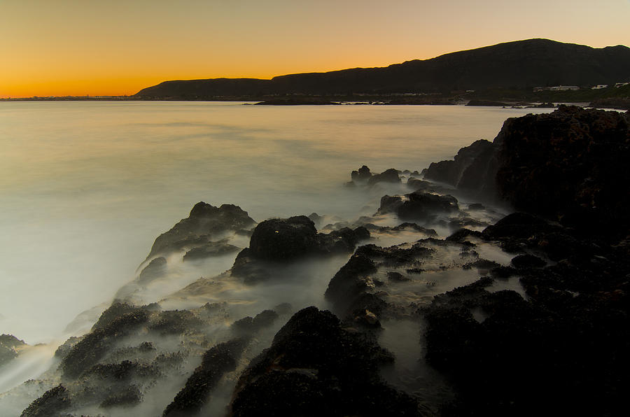 Ocean Photograph - Hermanus Sunset by Aaron Bedell