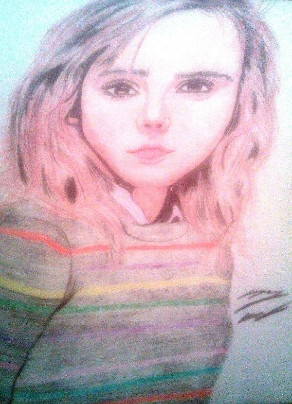 Hermione Drawing - Hermione Granger by Corey Hopper