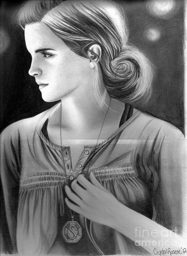Harry Potter Drawing - Hermione Granger by Crystal Rosene