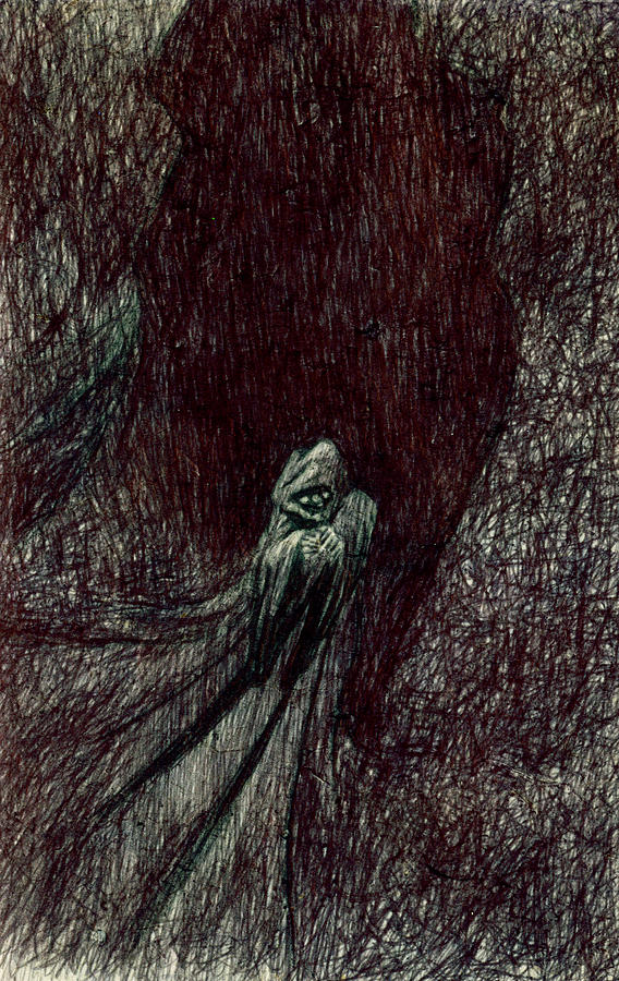 Hermit Drawing - Hermit by Kd Neeley