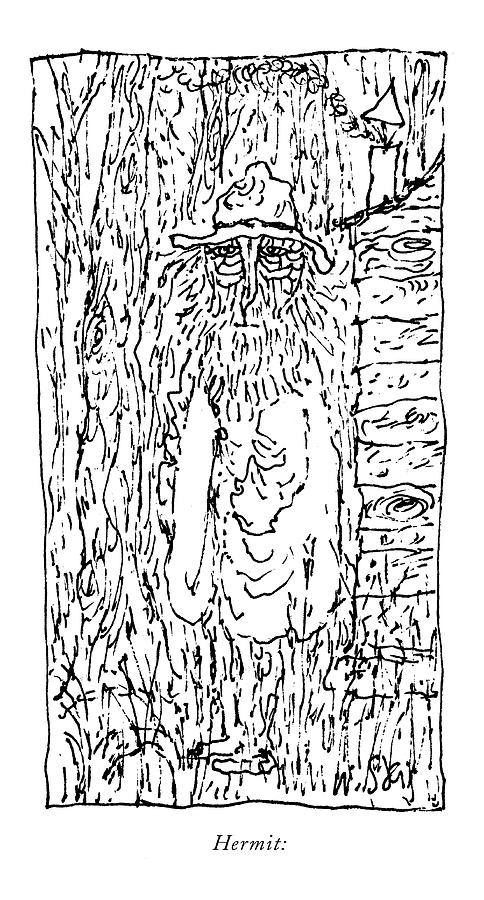 March 28th Drawing - Hermit: by William Steig