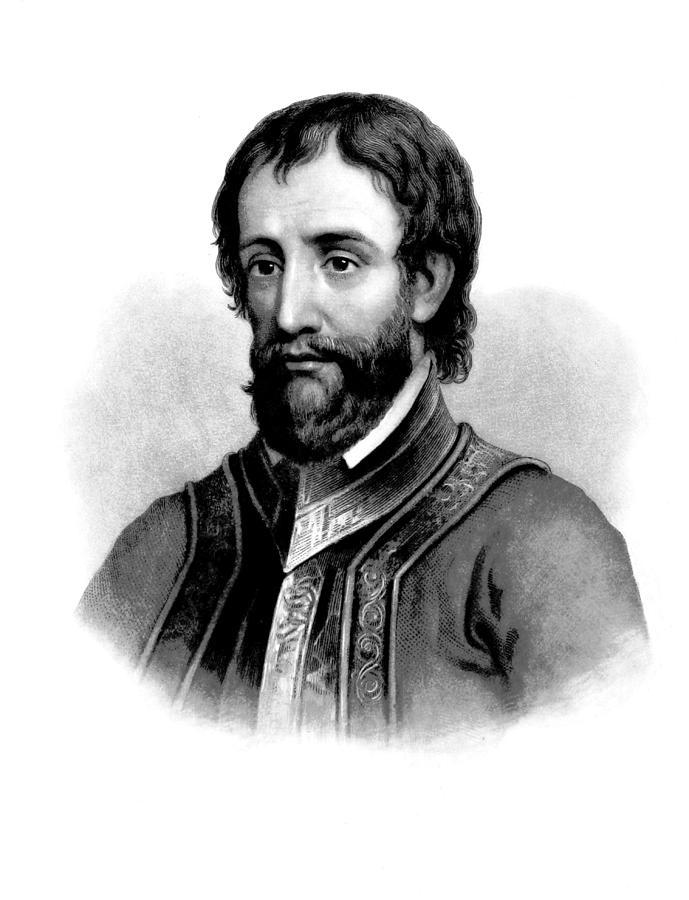 History Photograph - Hernando De Soto, Spanish Conquistador by British Library