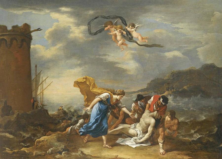 hero-and-leander-salvator-rosa Painting Metal An Old Mobile Home on an old cabin, an old barn, an old hotel room,