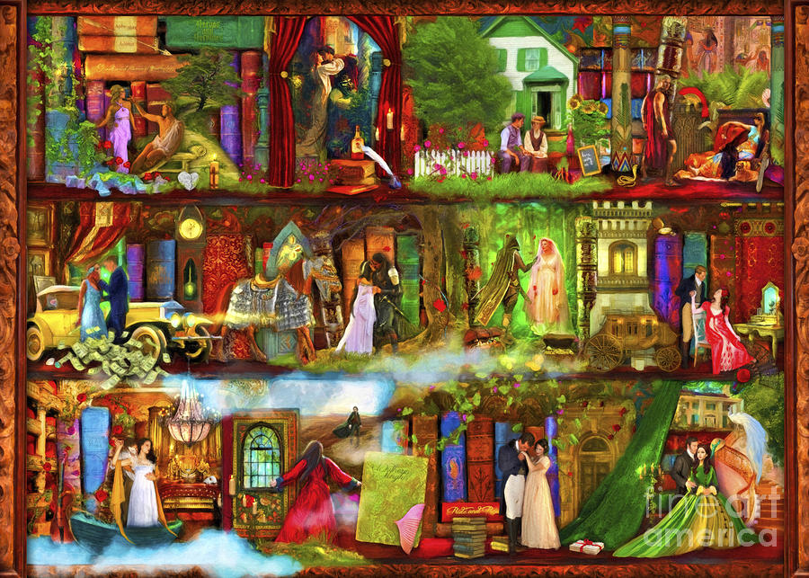 Fairy Digital Art - Heroes and Heroines by MGL Meiklejohn Graphics Licensing