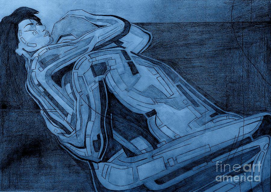 Heroes Digital Art - Heroes In Blue Drawing  by David Hargreaves