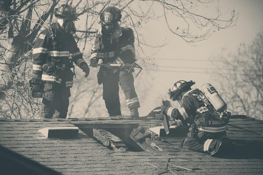Firemen Photograph - Heroes by Laurie Search