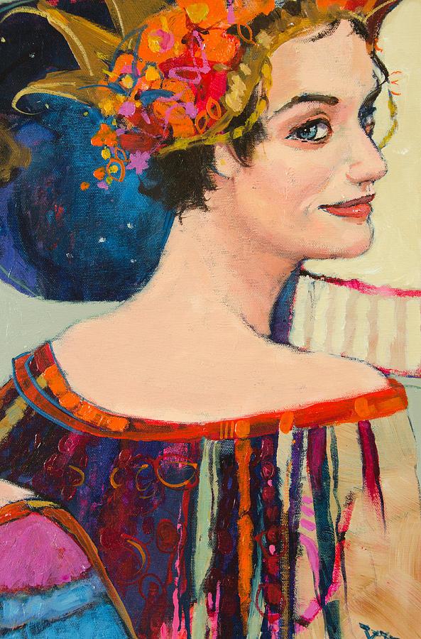 Woman Painting - Heroine by Jennifer Croom