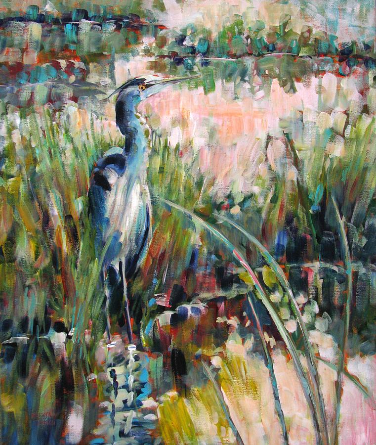 Heron Painting - Heron Attitude by Melissa Gannon