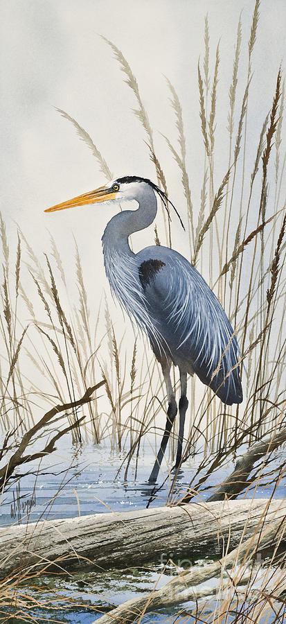 Heron Painting - Herons Natural World by James Williamson