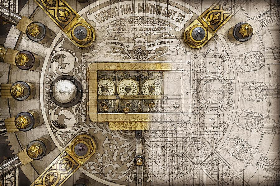 Herring Hall Marvin Co Bank Vault Door Lock Digital Art