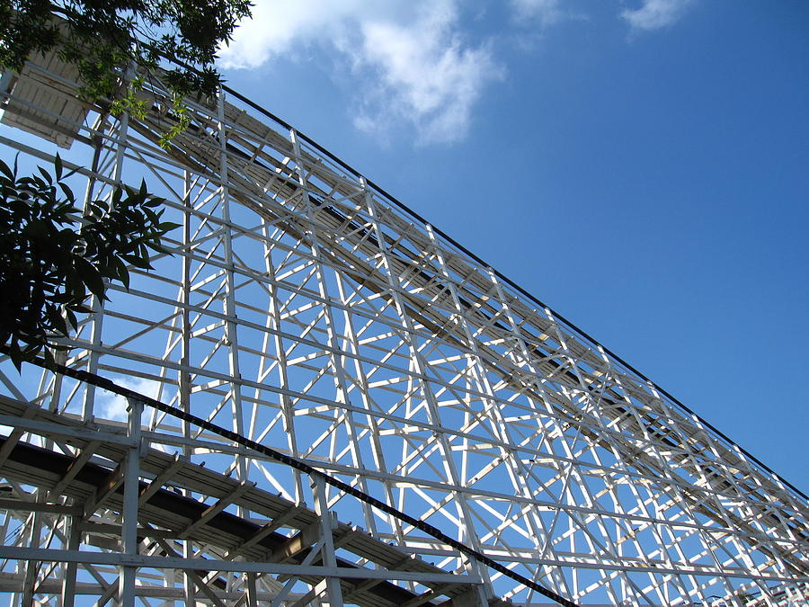 Hershey Photograph - Hershey Park - Comet Roller Coaster - 12121 by DC Photographer