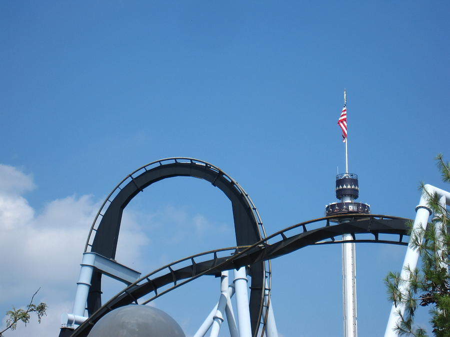 Hershey Photograph - Hershey Park - Great Bear Roller Coaster - 121211 by DC Photographer