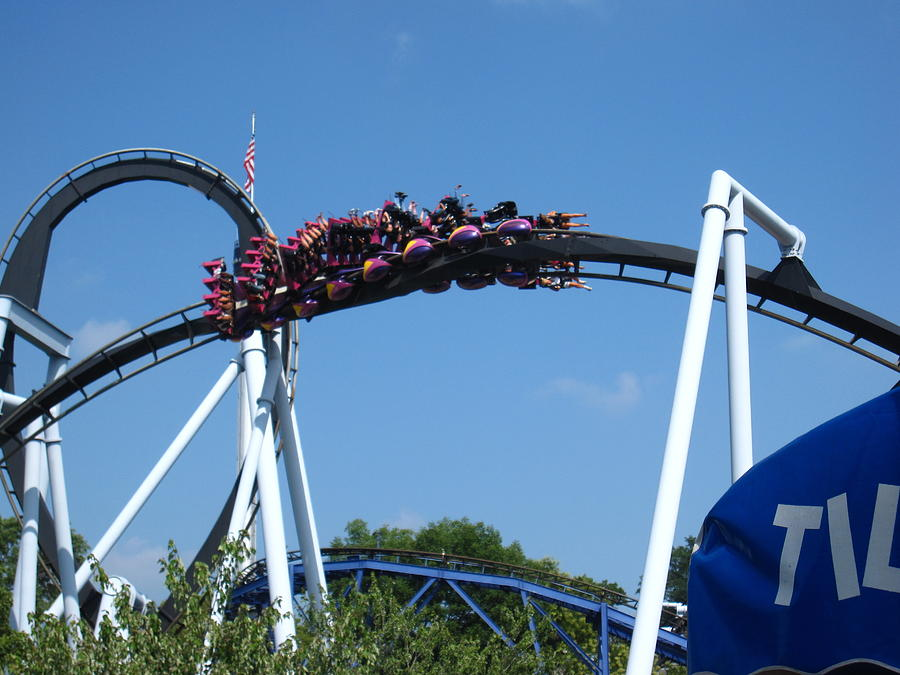 Hershey Photograph - Hershey Park - Great Bear Roller Coaster - 121215 by DC Photographer