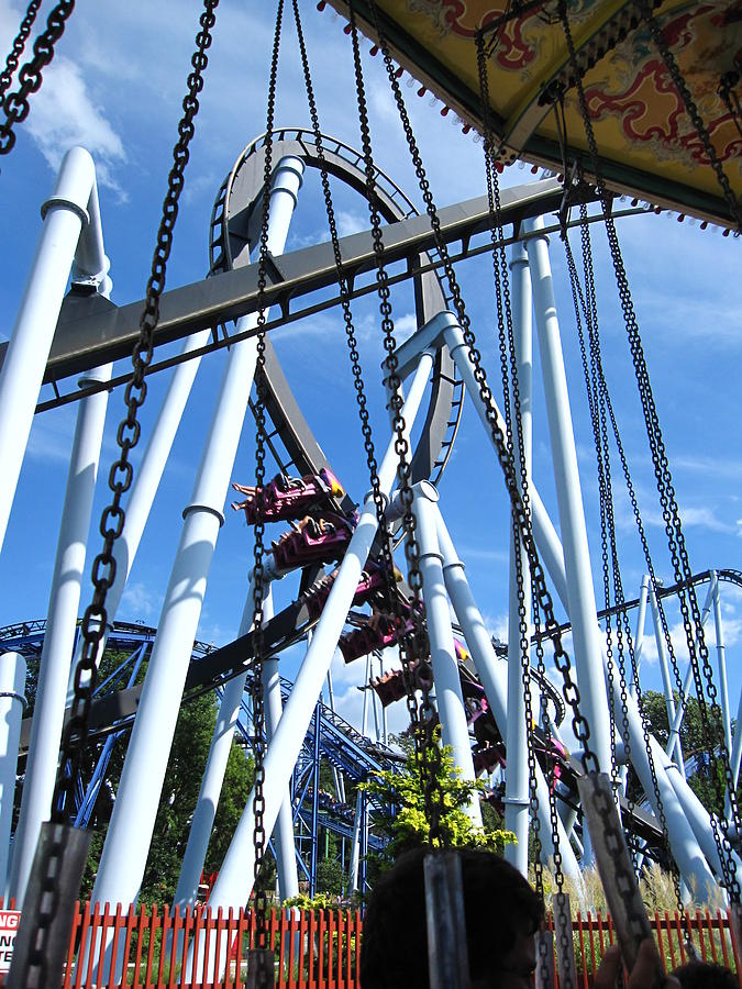 Hershey Photograph - Hershey Park - Great Bear Roller Coaster - 121216 by DC Photographer