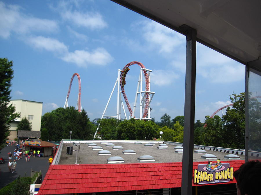 Hershey Photograph - Hershey Park - Great Bear Roller Coaster - 12122 by DC Photographer