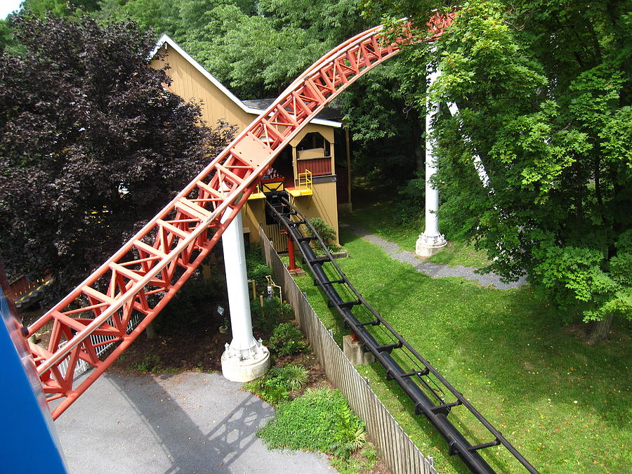 Hershey Photograph - Hershey Park - Storm Runner Roller Coaster - 12121 by DC Photographer