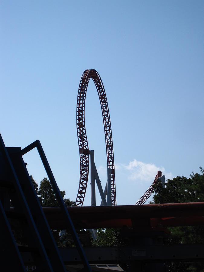 Hershey Photograph - Hershey Park - Storm Runner Roller Coaster - 12124 by DC Photographer