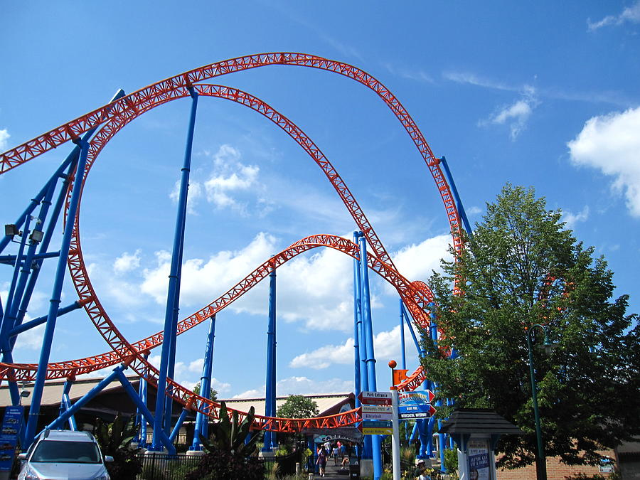Hershey Photograph - Hershey Park - Storm Runner Roller Coaster - 12125 by DC Photographer