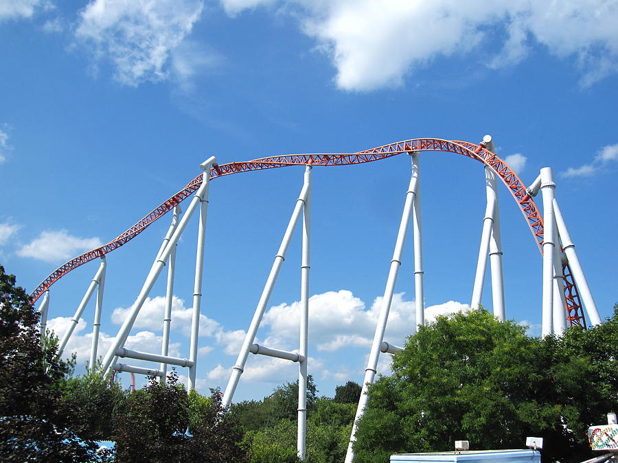 Hershey Photograph - Hershey Park - Storm Runner Roller Coaster - 12126 by DC Photographer
