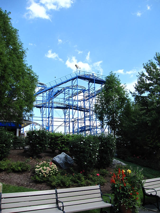 Hershey Photograph - Hershey Park - Wild Mouse Roller Coaster - 12121 by DC Photographer