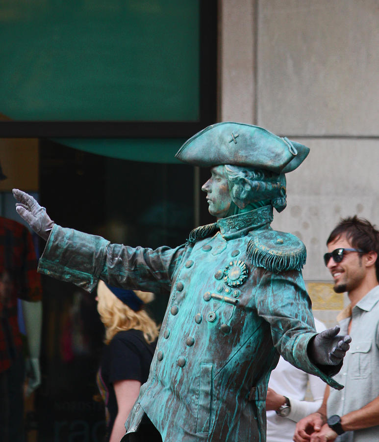 Statues Photograph - Hes Alive by Kym Backland