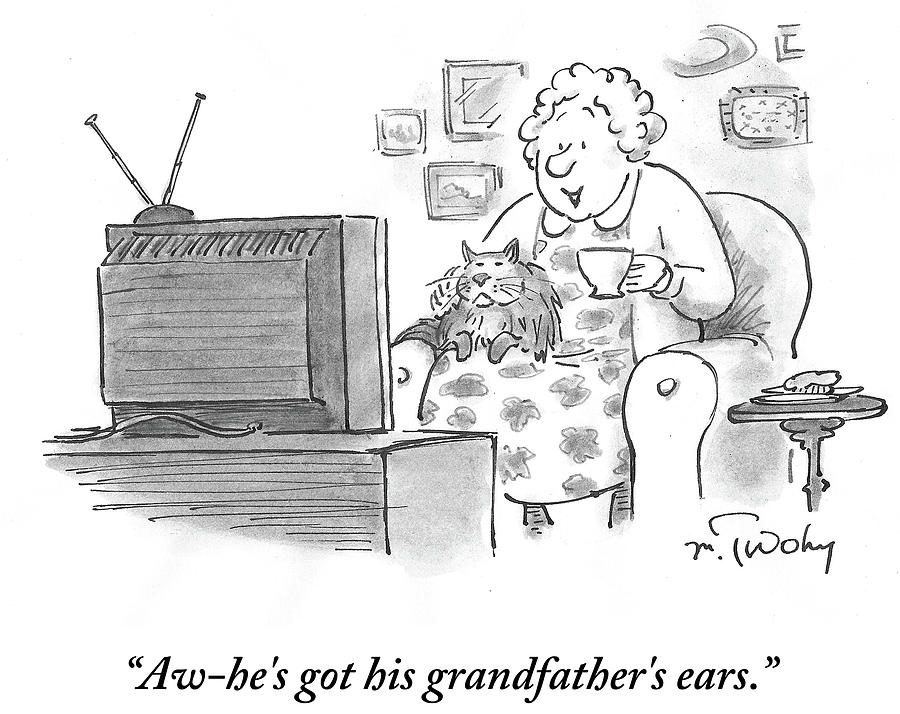 Hes Got His Grandfathers Ears Drawing by Mike Twohy