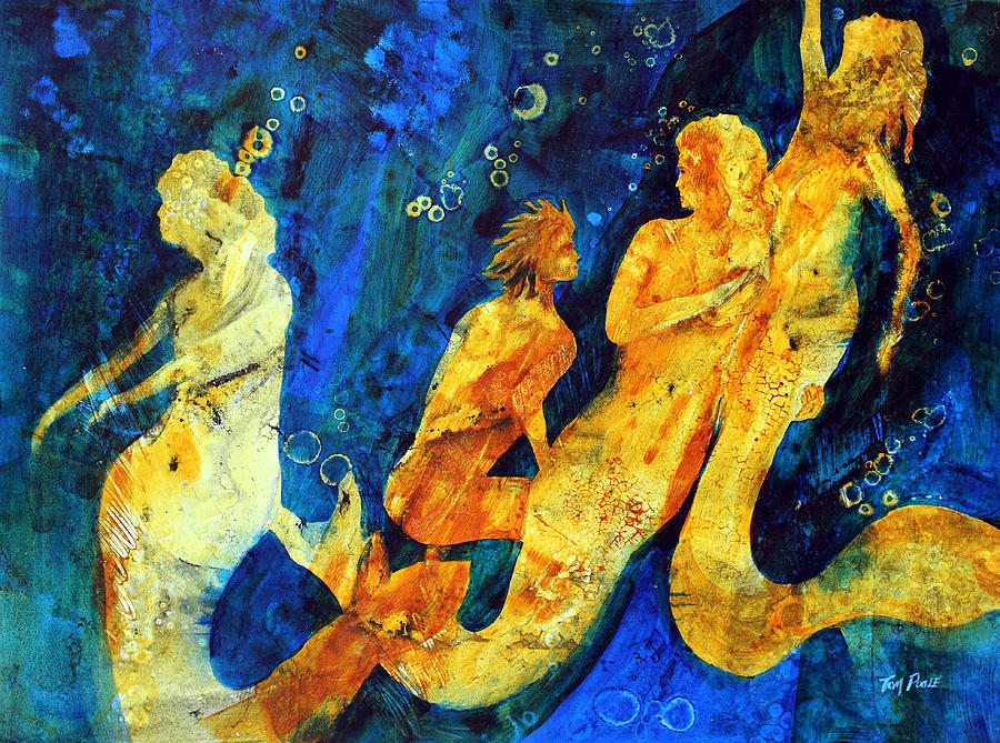Mermaids Painting - Hes Not One Of Us by Tom Poole