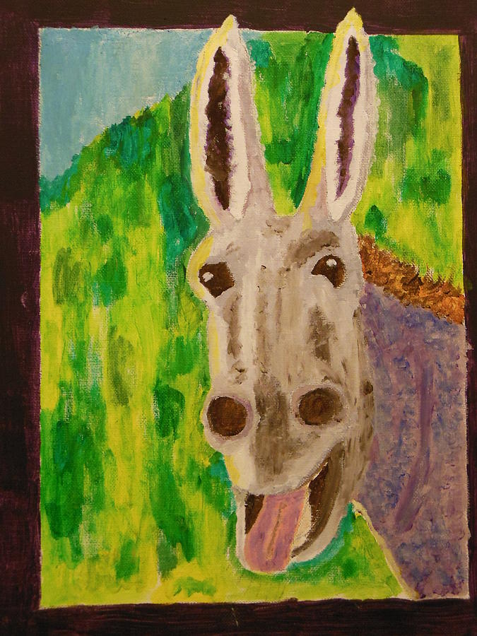 Donkey Painting - Hey Jack by Harold Greer