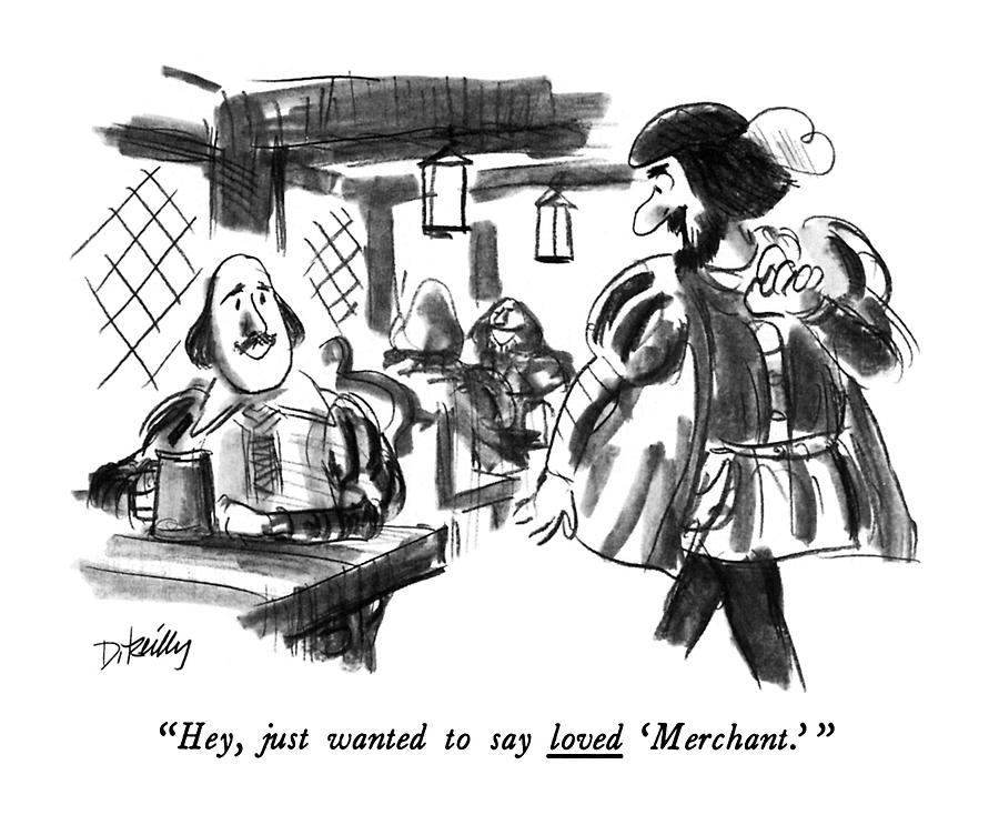 Hey, Just Wanted To Say Loved merchant. Drawing by Donald Reilly