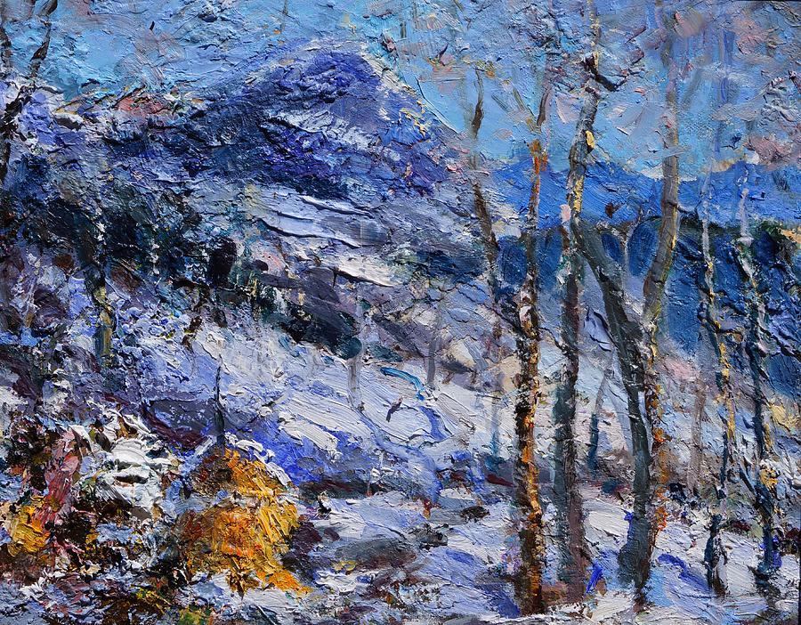 Paesaggio Painting - Heystack In The Snow by Sefedin Stafa