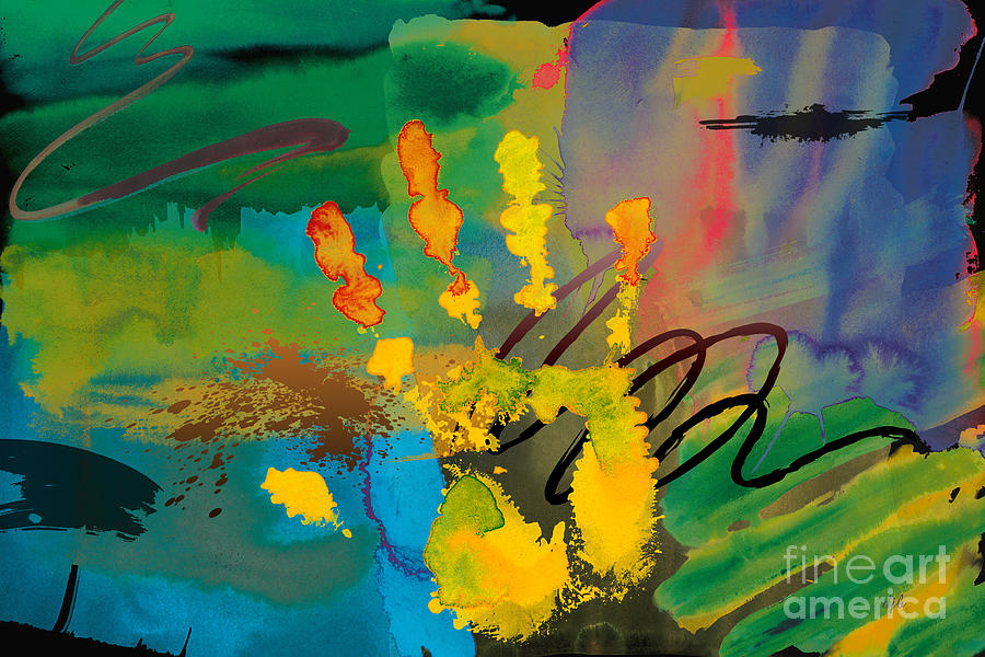 Hi Digital Art - Hi 5 by Bedros Awak