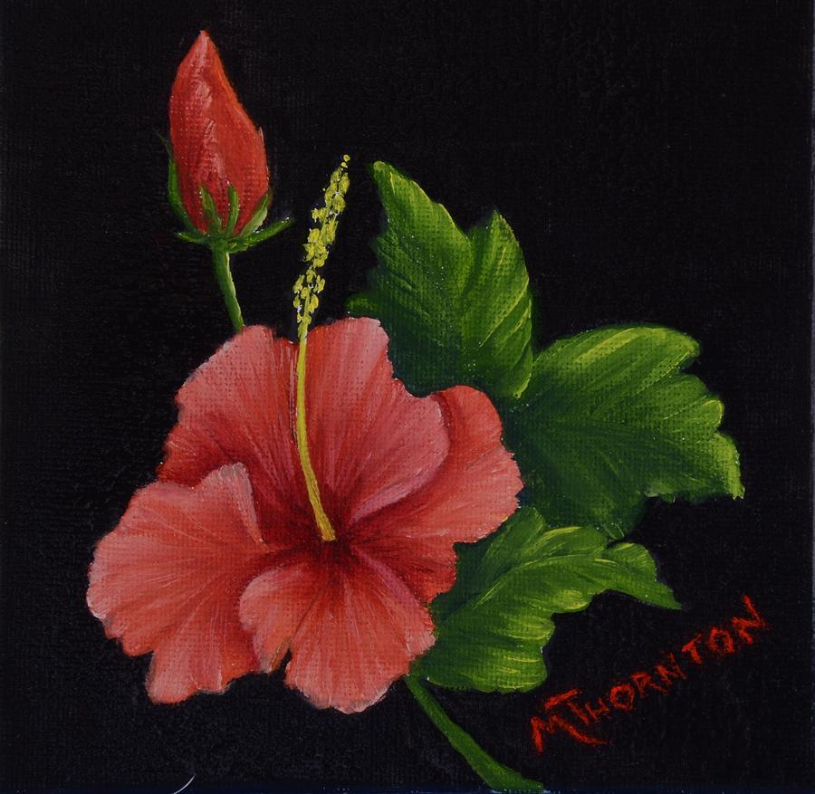Hibiscus Painting - Hibiscus 2 by Marsha Thornton