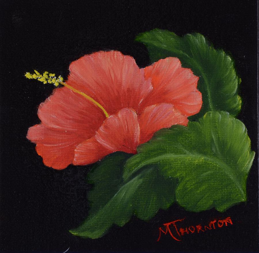 Hibiscus Painting - Hibiscus 3 by Marsha Thornton