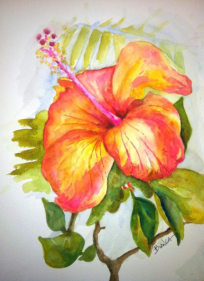 Hibiscus Painting - Hibiscus by Bianca Romani