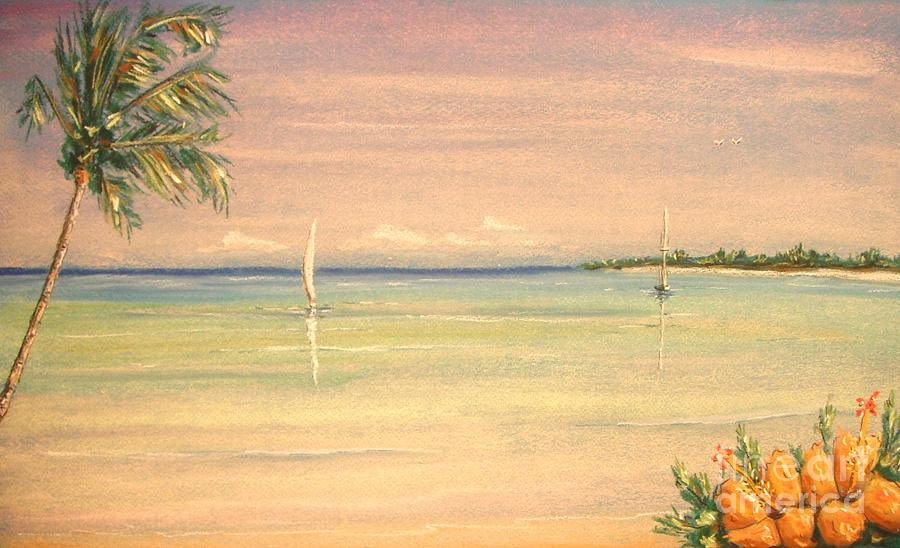 Tropical Painting - Hibiscus Cove by The Beach  Dreamer