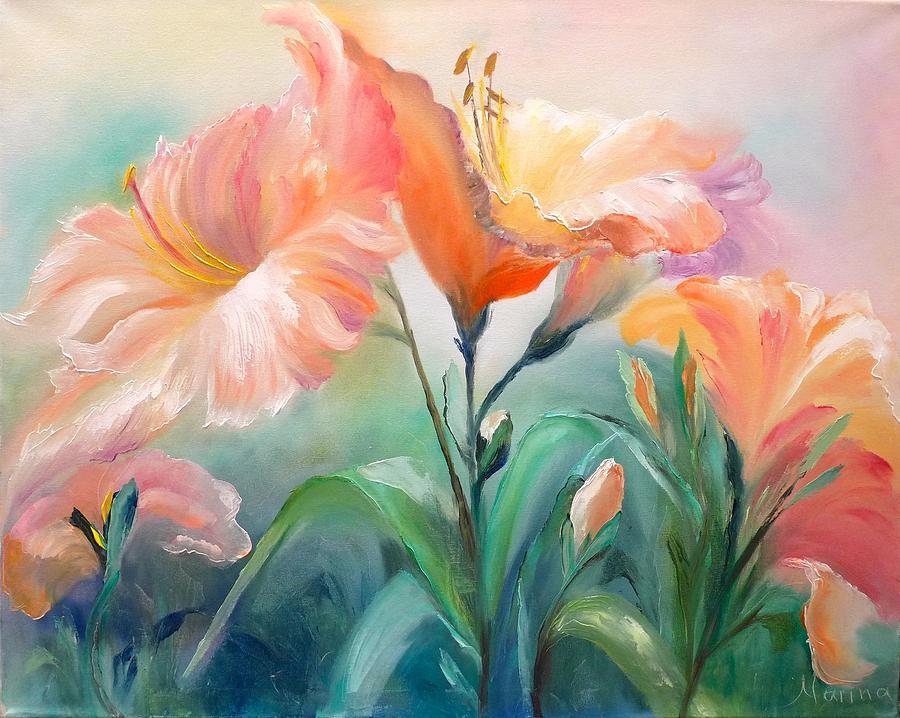 Hibiscus Painting by Marina Wirtz