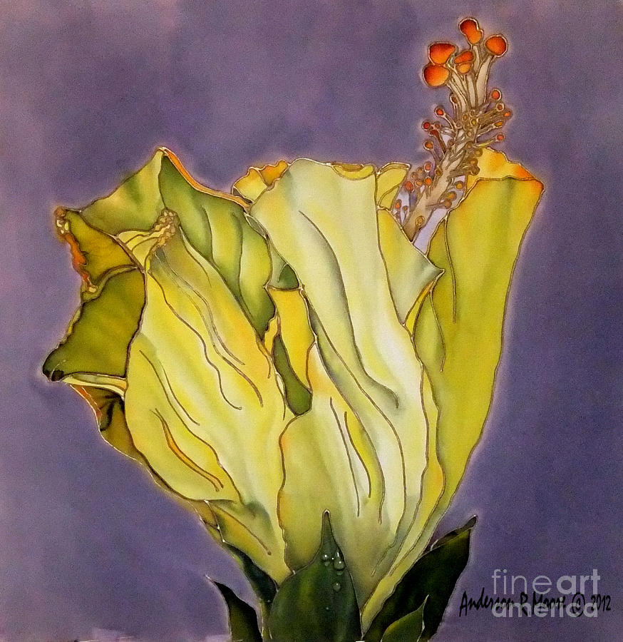 Floral Painting - Hibiscus One by Anderson R Moore