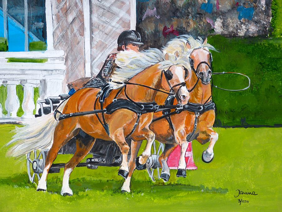 Horses Painting - Hickstead  by Janina  Suuronen