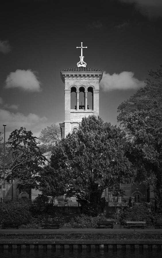 Christ Photograph - Hidden Church On Thames by Maj Seda