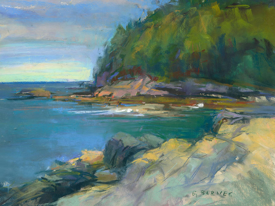 Maine Painting - Hidden Cove by Greg Barnes