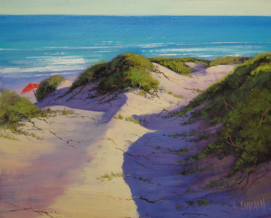 Seascape Painting - Hidden Dunes by Graham Gercken