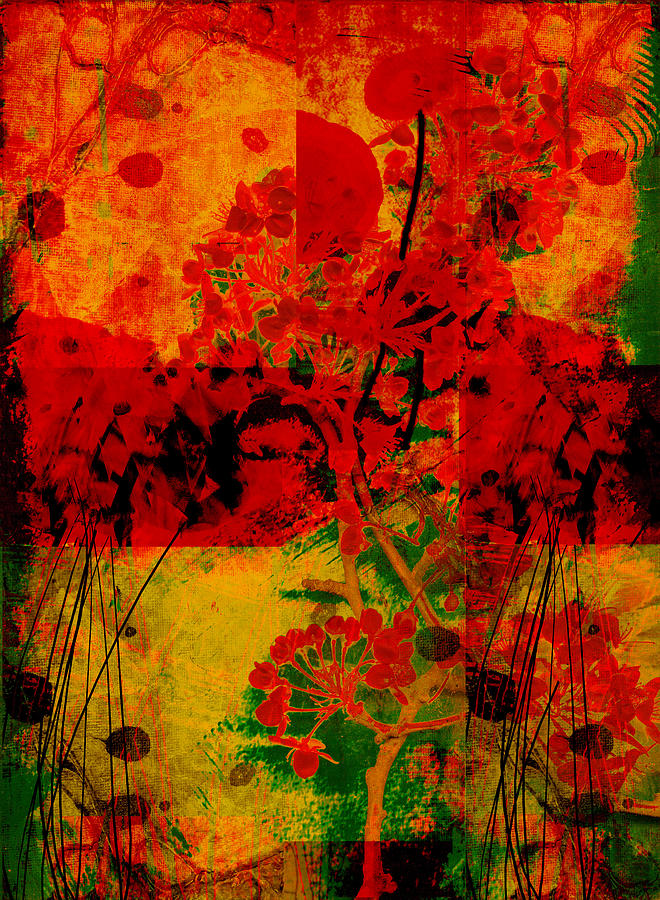Abstract Mixed Media - Hidden Garden by Ann Powell