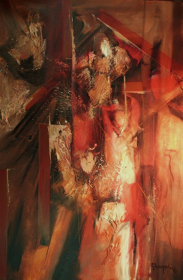 Abstract Expressionism Painting - Hidden Gesture by Tom Shropshire