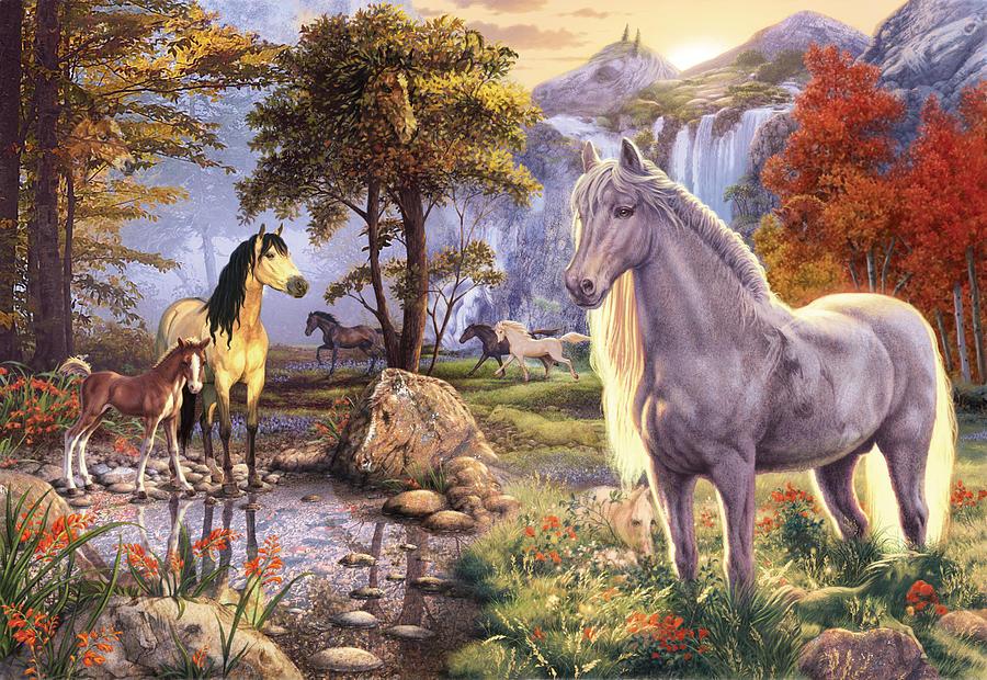 Hidden Images Horses Photograph By Steve Read