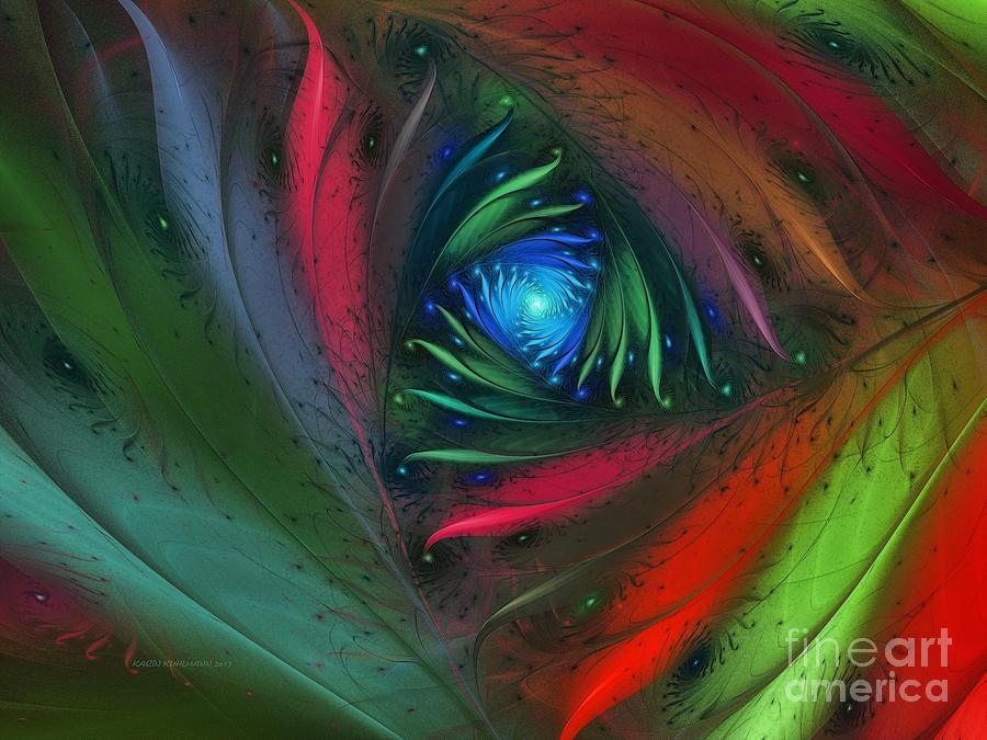 Abstract Digital Art - Hidden Jungle Plant-abstract Fractal Art by Karin Kuhlmann