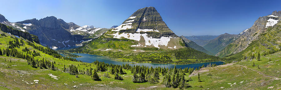 Alpine Photograph - Hidden Lake in Glacier National Park by Sebastien Coursol