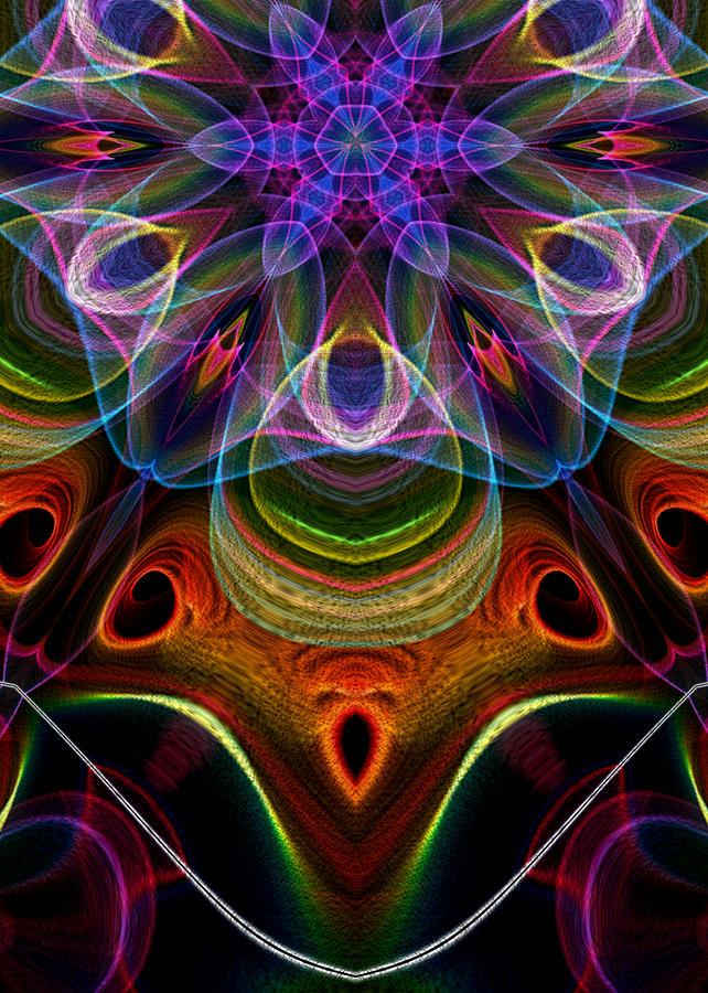 Flame Fractal Digital Art - Hidden by Owlspook
