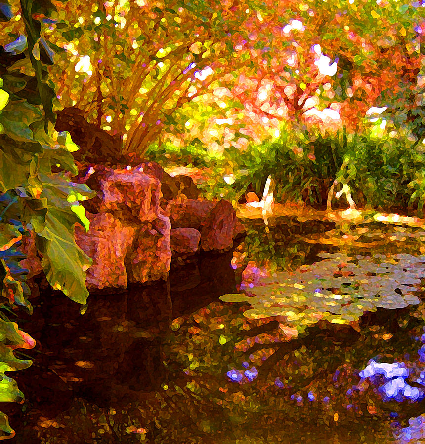 Water Landscape Painting - Hidden Pond by Amy Vangsgard