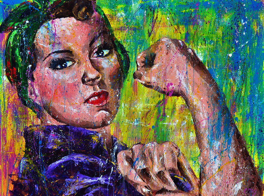 Woman Painting - Hidden Strength by Connie Mobley Medina
